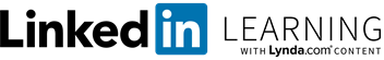 LinkedIn Learning logo, with Lynda.com content